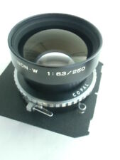 Fujinon (Fuji) W 250mm / f6.3 lens, Copal shutter, Toyo board (B/N. 494886)