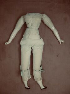 """Vintage antique style Parian lady doll body 1958 18"""" orig pantaloons needs head"""