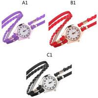 Women's Fashion Ladies Faux Leather Rhinestone Quartz Wrist Watches Watch