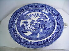 """Blue willow Warming Plate Dish Vintage 10 1/4"""""""