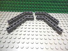 Lego 4 Dark Bluish Gray technic 7x3 thick lift arm 45 degree NEW
