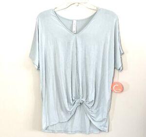 Womens Yoga Shirt Short Sleeve Mint Green Workout Top Size XS NEW