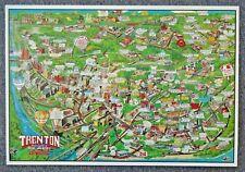 1991 Advertising Map of Trenton & Part of Ewing Township NJ Chambersburg