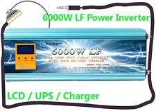 24000W/6000W LF Split Phase 12VDC/110V,220VAC 60Hz PowerInverter LCD/UPS/Charger