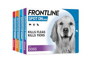 FRONTLINE Dog Kills Fleas Ticks Lice Mites Treatment SPOT ON ALL DOG S, M, L, XL