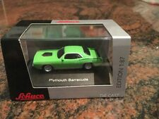 1/87 Schuco 1970 Plymouth Hemi-Barracuda Lime Green Diecast Display H0