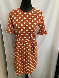 Boohoo Womans Designer Maternity Smock Dress Size 10 BNWT Teracotta