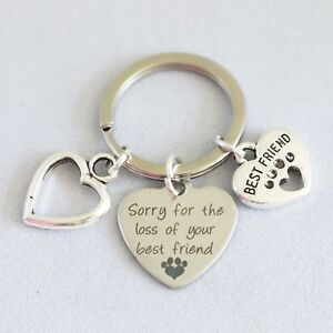 """""""Sorry for the loss of your best friend"""" - Memorial Dog Cat Keepsake - Keyring"""