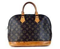 Authentic LOUIS VUITTON ALMA PM Hand Bag Monogram Canvas & Leather Purse VI0946