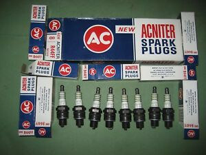 New AC R44FF Acniter Resistor 8 Spark Plugs 1962-1969 Corvair High Performance