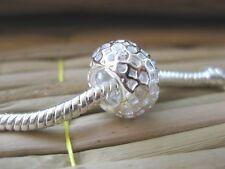 Solid 925 Karen Hill Tribe Silver Bead Fit Bracelet / Necklace