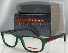 Prada Sport Eyeglasses VPS 06G Green Frame Brown Temples UFK-1O1 52mm NEW