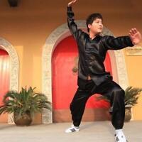 Chinese Wing Chun Kung Fu Suits Martial Clothes Tai Chi Taijiquan black