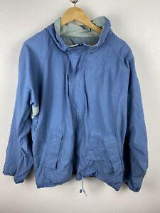 Vintage McGregor Sportswear Mens Bomber Jacket Size XL Full Zip Hooded 90s Blue