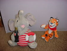 Coca Cola Elephant And Tony The Tiger Stuffed Animals