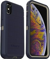 OtterBox Defender Rugged Case (Only) for iPhone Xs & X - Dark Lake Easy Open Box