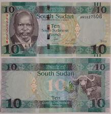 Sur de sudán/southsudan 10 pounds 2015 (2016) UNC