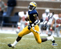 DESMOND HOWARD SIGNED AUTOGRAPHED 8x10 PHOTO MICHIGAN WOLVERINES BECKETT BAS