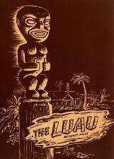 1950s Luau Menu cover