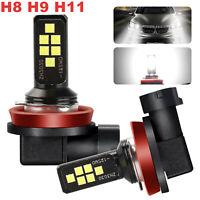 2X Xenon Super White 6000K H11 H8 H9 LED Fog Driving Light Bulbs High Power