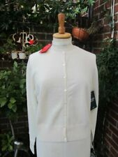 Full length new 100% PURE CASHMERE CARDIGAN in soft white UK16 US12 eu44 bnwt