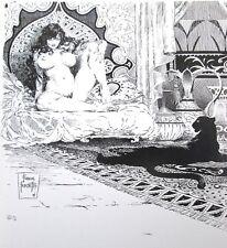 Vintage Frank Frazetta Art SHEBA 1974 GGA Nude Panther Fantasy Middle Eastern
