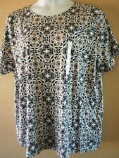 WOMEN'S PLUS SIZE 3X 22W 24W TAN, GRAY, CREAM CLASSIC TEE SHIRT TOP CLOTHING NEW