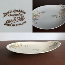 CLARICE CLIFF Royal Staffordshire Oval Graduated Serving Dish Plate Wild Grasses