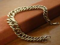 9k 9ct Solid Gold Graduated Curb Bracelet. Damaged? 13mm, 21.5cm 15.97g
