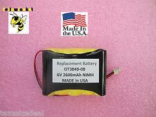 MADE IN USA 6V 2600mAh NAME BRAND Battery for OTC & Matco 2-Channel Scope OT3840