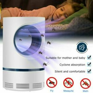 Mosquito And Flies Killer Trap Suction Fan No Zapper Child Safe Catcher Lamp USB