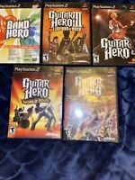 PS2 Guitar Hero Games: Lot Of 5  PS2 PlayStation 2 Tested Nice Lot 😎