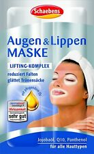 Schaebens Eyes and lips Lifting complex Mask  , 5 Pack for 20 applications New