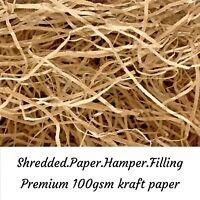 Shredded Brown Paper *50 GRAMS* Natural Kraft Craft Hamper Gift Void Packaging