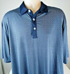 FOOTJOY FJ Men's Size  XL Golf Polo Shirt SHort Sleeve Blue Relaxed Fit