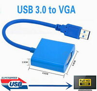 USB 3.0 To VGA Video Graphic Multi Display Cable Converter Adapter For Win 7/8