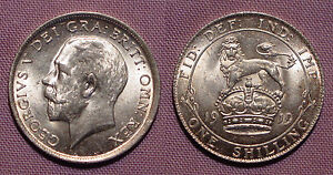 1919 KING GEORGE V SHILLING - Top Grade Coin With Full Lustre