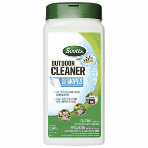 Scotts Outdoor Cleaner Plus OxiClean Heavy Duty Wipes 25-Ct
