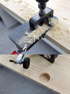 35mm Woodworking Jig Door Hinge Hole Opener Guide Locator Wood Punch Drilling UK