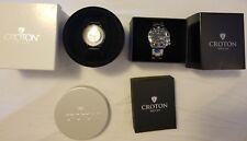 "CROTON ""CIRCUIT BREAKER"" CN307546BKSK SEE-THROUGH DIAL WATCH ( Bonus Watch)"