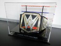 ✺New✺ WWE Championship Belt DISPLAY CASE - Wrestling WWF UFC MMA Boxing Lego