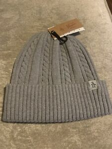Santon Beanie Grey Penguin Hat Mens
