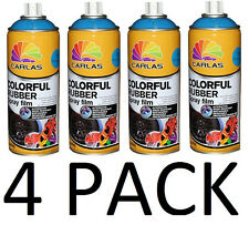 4 PACK - New Black  Plasti Dip 13.5 oz Spray Can Rubber coating Removable Paint
