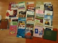 Music Mixed Lot 30+ music Books of all types and vintage sheet music good cond