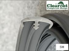 Campervan Knock OnT Trim, Double Lipped,5 Meters Dark Grey ,15mm,2mm Slot T-Trim