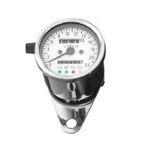 Contachilometri spie meccanico custom Harley Cafe racer 60 mm cromato bianco 2:1