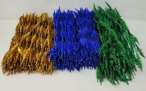 """Lot of 400+ Christmas Wired Tinsel Bump Chenille Stems Craft Pipe Cleaners 12"""""""