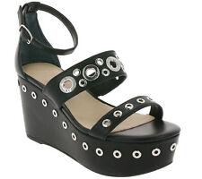 GUESS Schuhe Absatz-Pantolette glamouröse Damen Wedges mit Nieten-Besatz Schwarz