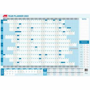 Sasco 2022 Calendar Year Wall Planner 870 x 610mm Includes Pen Kit 1058022