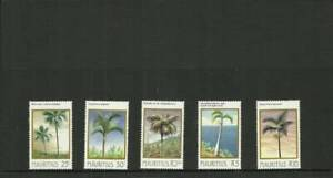 MAURITIUS SG686-690 PALM TREES MNH